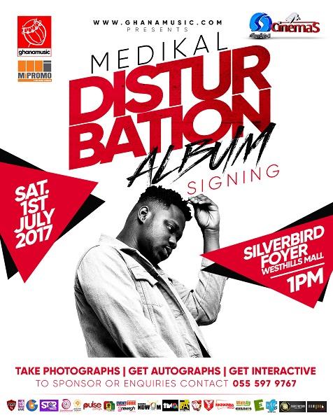 Medikal album signing with fans slated for July 1