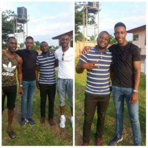 Arsenal forward Danny Welbeck in Ghana for holidays