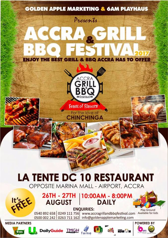 THE ACCRA GRILL & BBQ FESTIVAL scheduled for August 26
