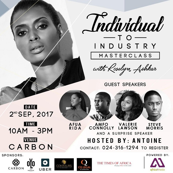 Roselyn Ashkar to organize 1-day workshop for Models in Accra on September 2