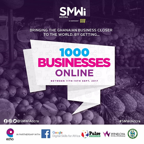 1000 Businesses in Accra are coming online During Social Media Week!!!