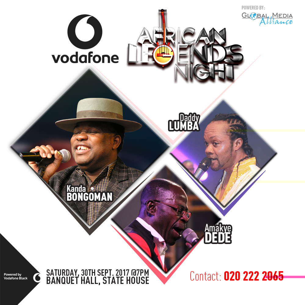Kanda Bongo Man Headlines 2017 Vodafone African Legends Night