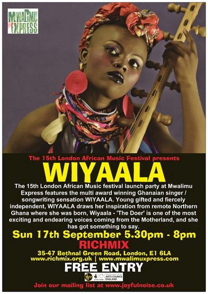 Wiyaala to Perform At The London African Music Festival Launch Party