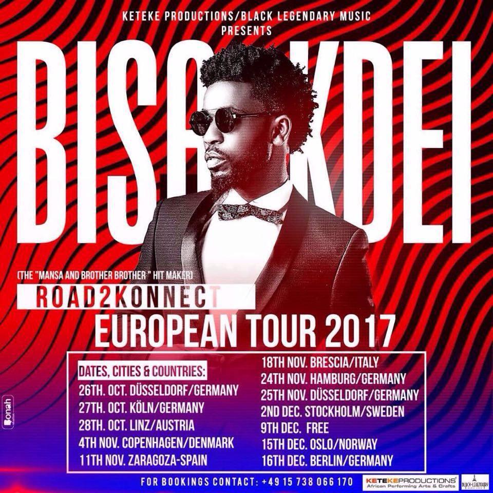 Bisa Kdei kicks off Europe tour