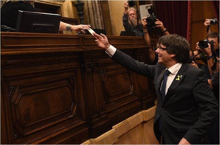 Madrid imposes direct rule on Catalonia just 40 minutes after the region FINALLY declared independence
