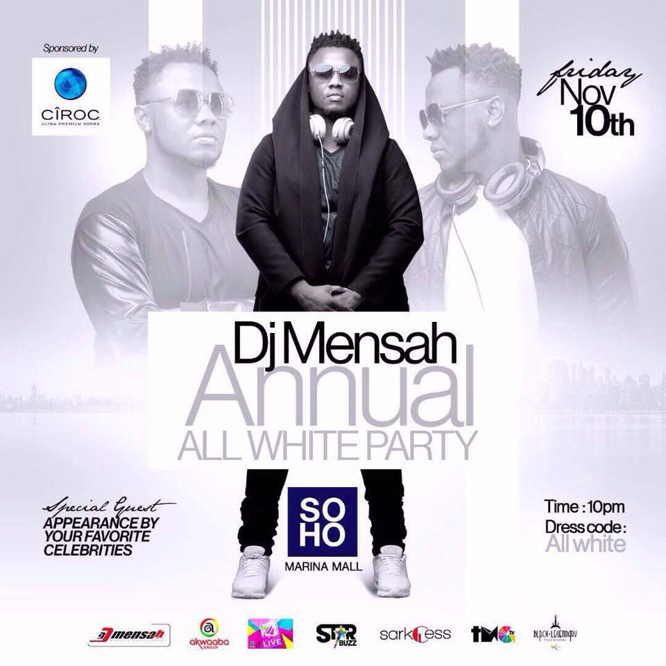 DJ Mensah's All White Party comes off on November 10