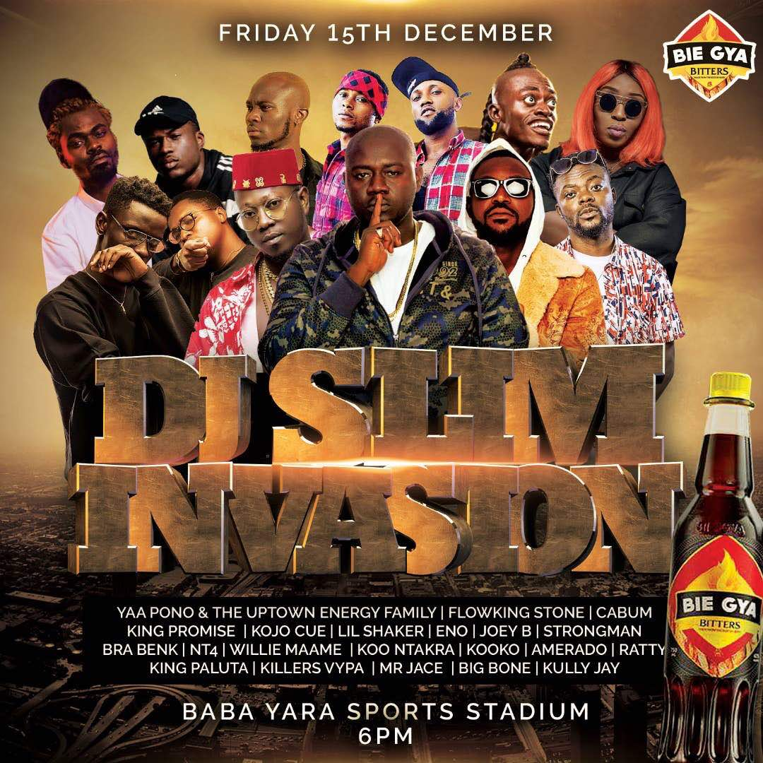 DJ Slim bills Yaa Pono, Flowking Stone, Strongman and more for DJ Slim Invasion on December 15
