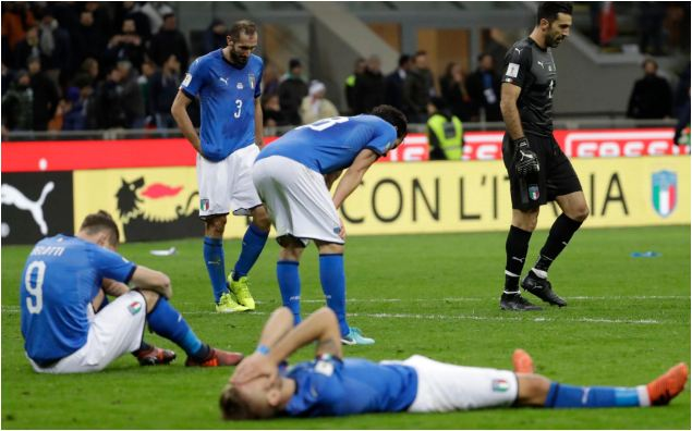Tears as Azzurri miss World Cup finals for first time in 60 years