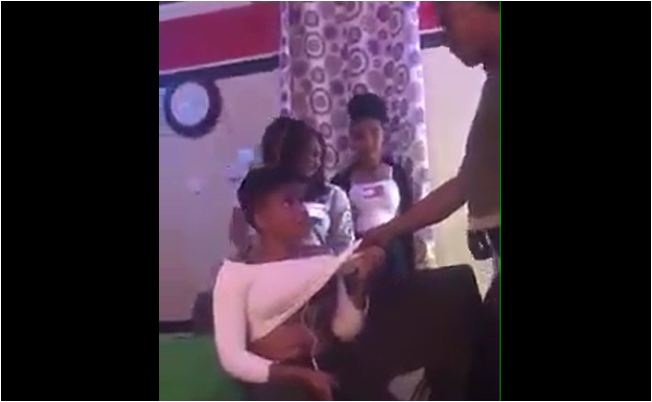"Ghanaian Girl Slapped For Trying To Steal ""Crazy"" Girl's  Boyfriend"