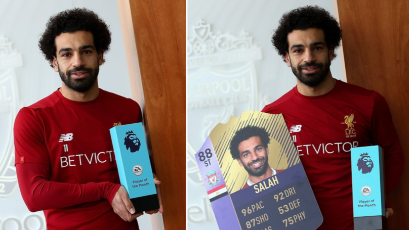 Mohamed Salah Wins Player Of The Month Award