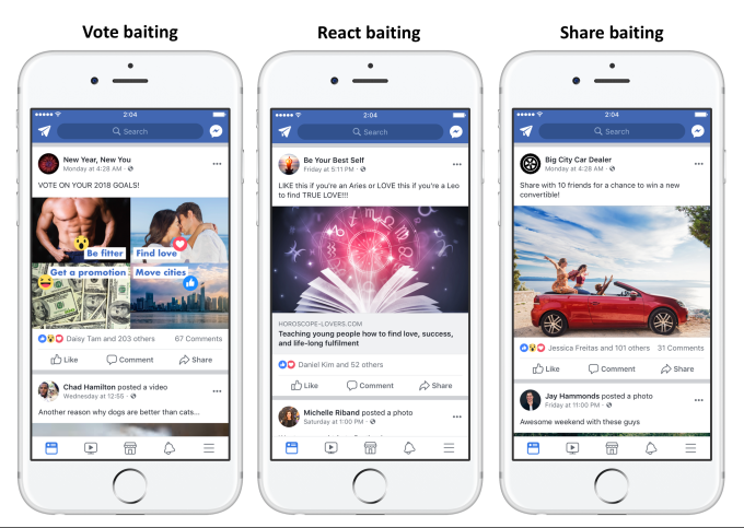 Facebook is clamping down on posts that shamelessly beg for your engagement