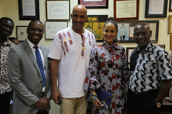 Boris Kodjoe and wife, Nicole pay courtesy visit to FOCOS Hospital