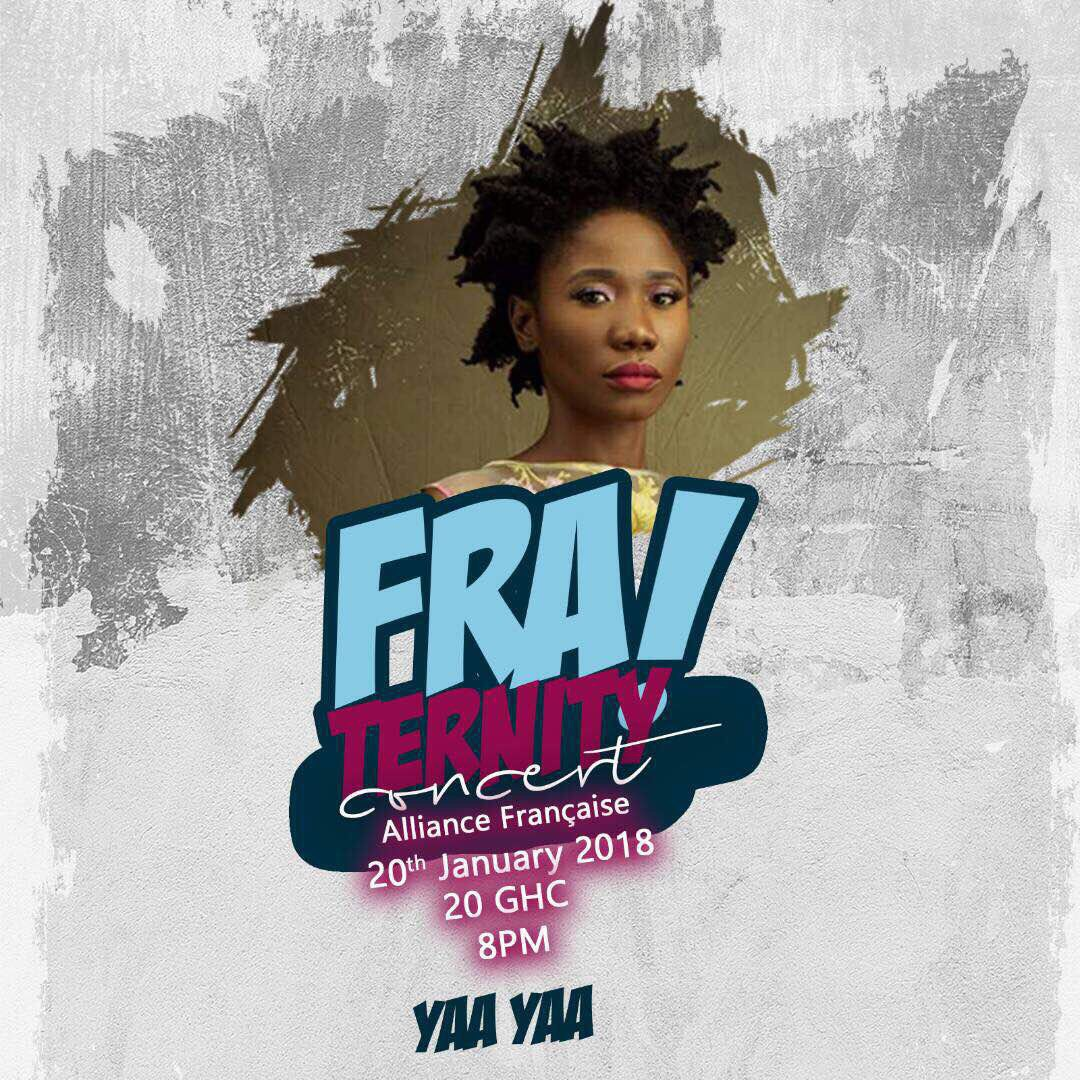 Yaa Yaa to perform at the ''FRAternity'' concert on January 20