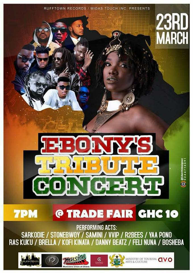 Sarkodie, Stonebwoy, Yaa Pono others to perform at Ebony's Tribute Concert