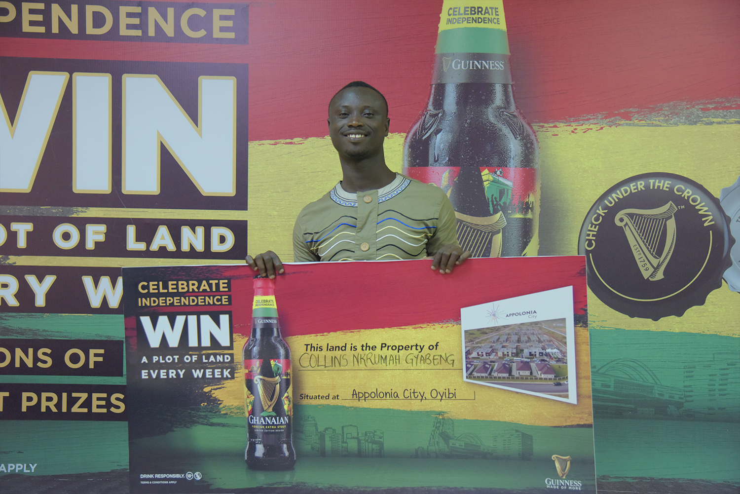 University of Cape Coast student wins in Guinness 'Piece of Ghana' Promo