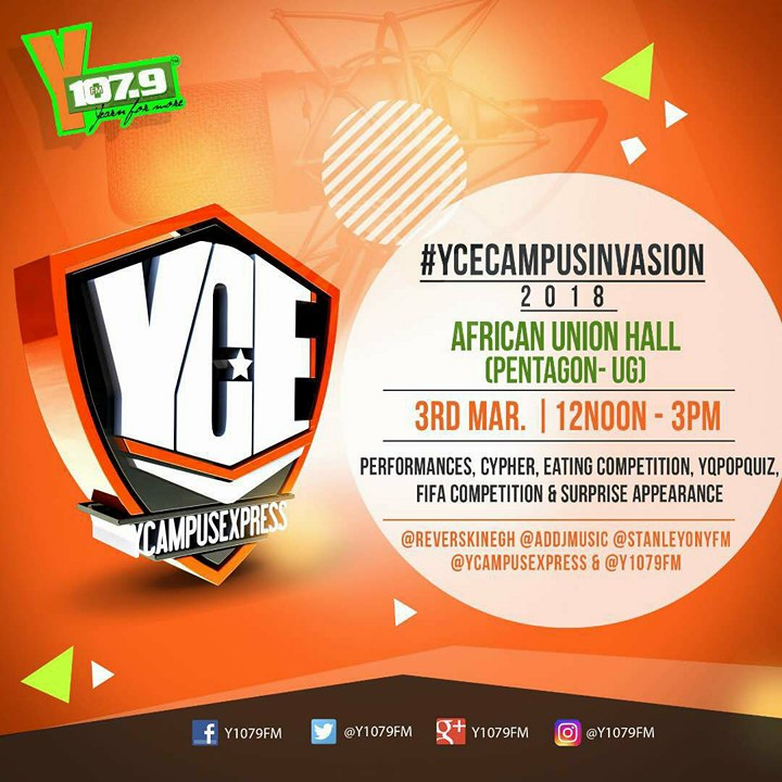 YFM's YCE Goes Live at Pent Hall This Weekend