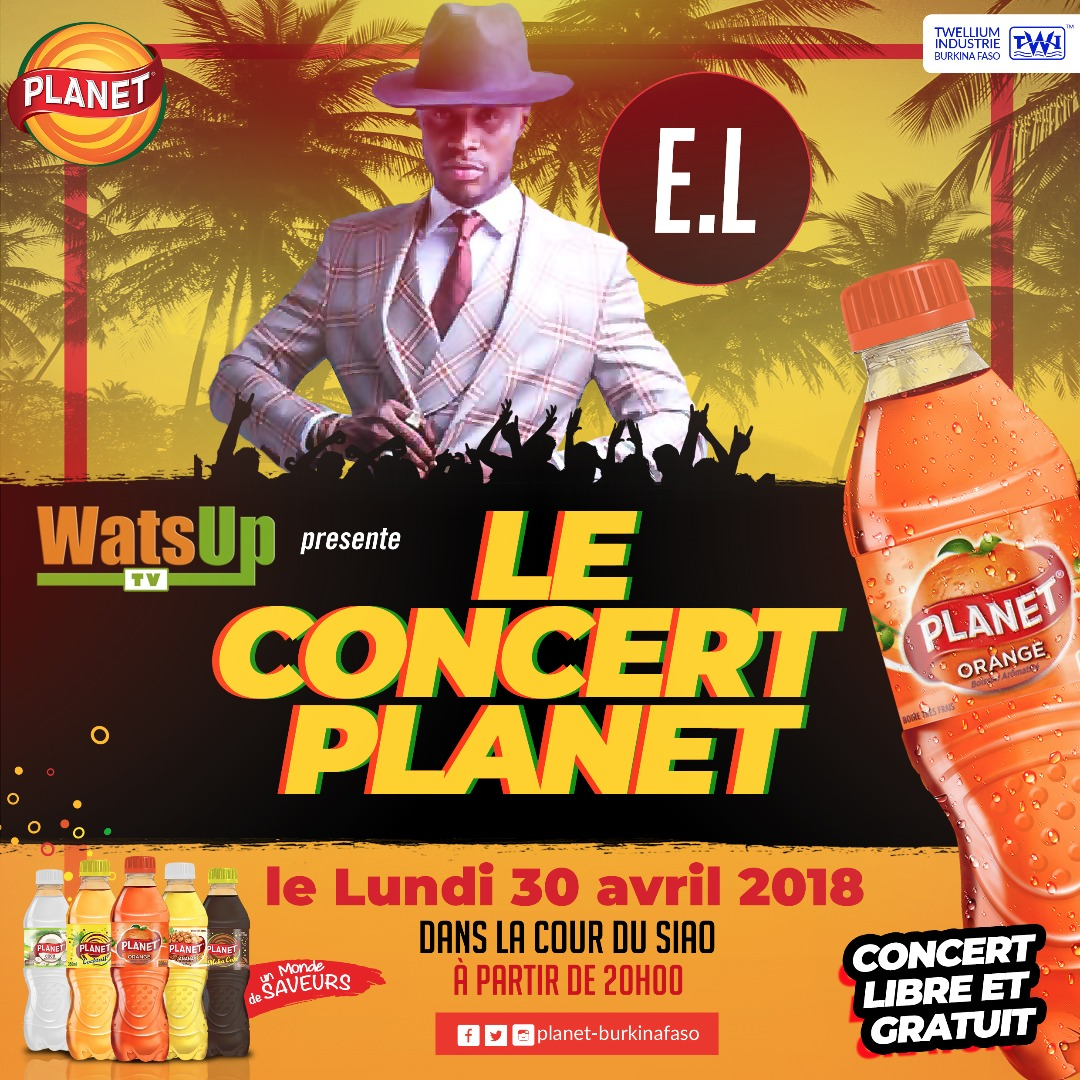"""E.L Headlining at WatsUp TV """"Le Concert Planet """" also performing Iba One, Epixode and Floby in Ouagadougou, Burkina Faso"""