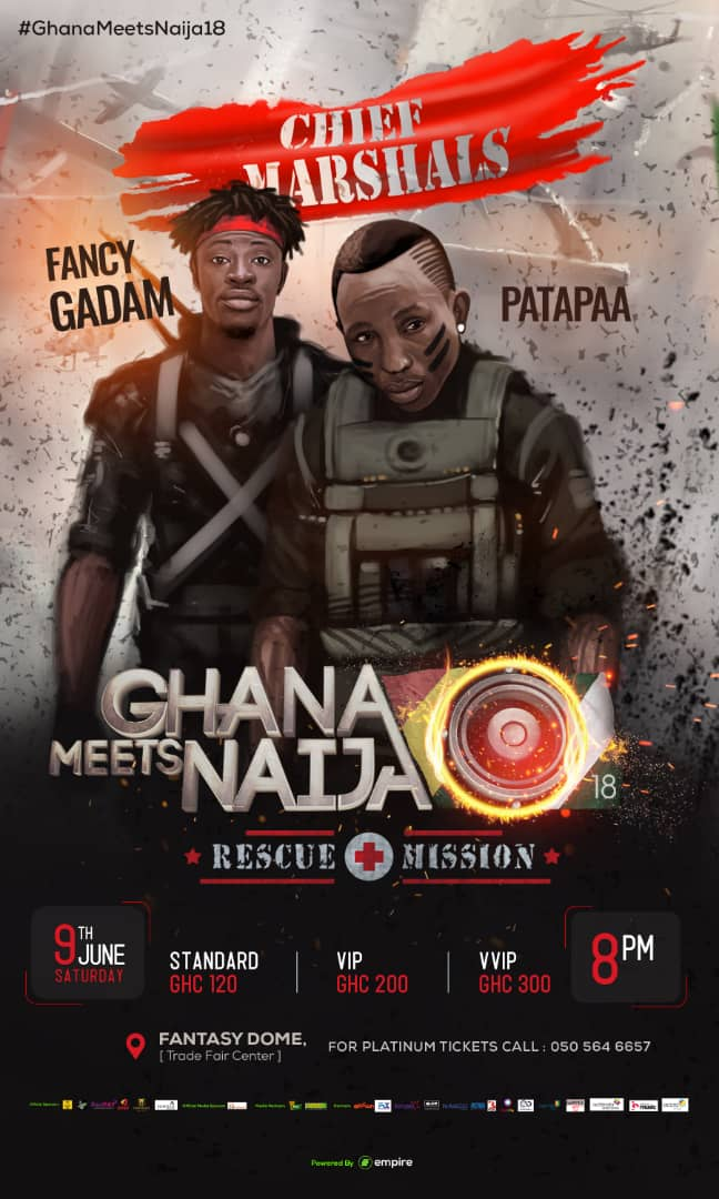 Tickets for #GhanaMeetsNaija18 out now and available on FlexiPay app