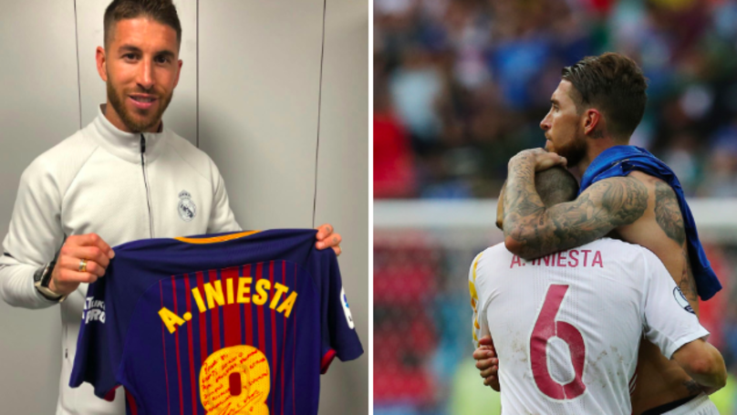 Iniesta Gives His Last Clasico Shirt To Ramos, He Posts Classy Message In Return