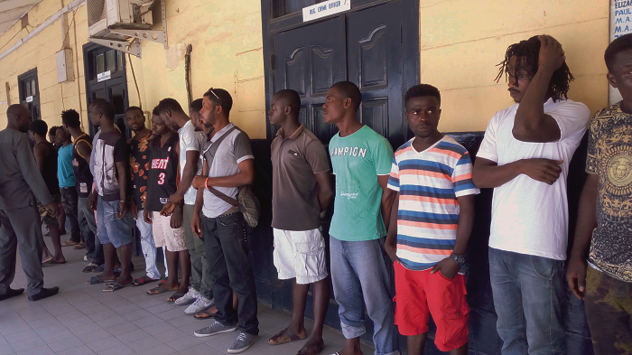 28 Suspected criminals rounded up in Accra