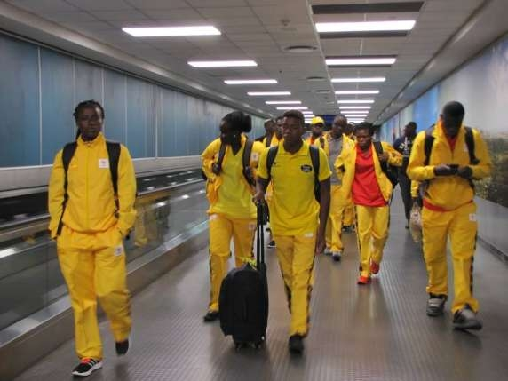 Ghana's Olympic Team Land in Rio Ahead of the Games