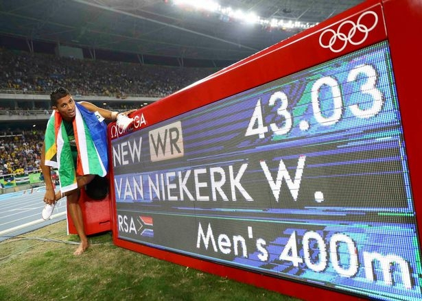 South Africa's Van Niekerk smashes Johnson's 400m world record to claim gold at Rio