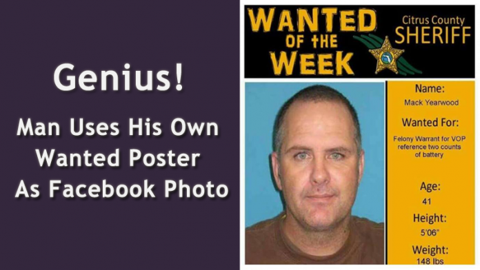 Suspect arrested after using wanted poster as Facebook profile picture
