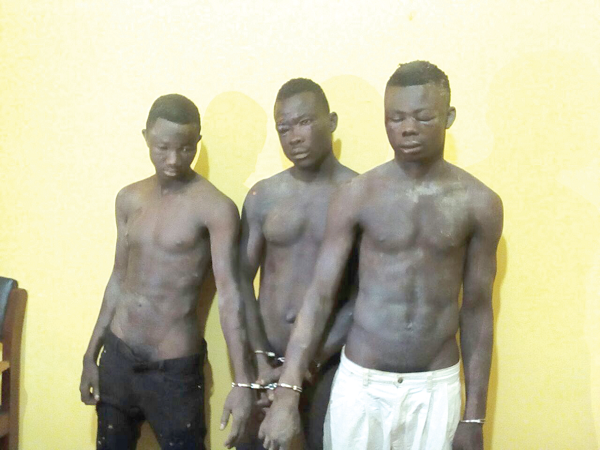 Three suspected armed robbers arrested