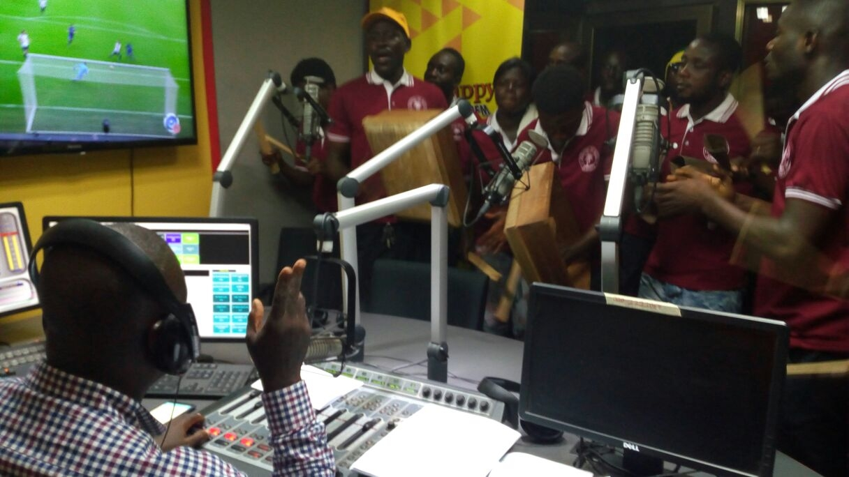 PHOTOS: Appollonia Keep-fit Club Shake Happy FM Studio Ahead of Health and Fitness Festival