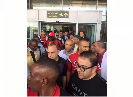 LIVE PHOTO UPDATES: GRANT WITH HEAVY SECURITY DETAIL AS STARS LAND IN EGYPT FOR CRUNCH WORLD CUP QUALIFIER