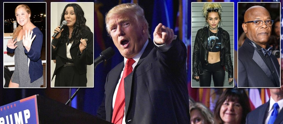 GOODBYE, AMERICA? THE CELEBRITIES WHO PROMISED TO LEAVE THE US IF TRUMP WAS ELECTED PRESIDENT