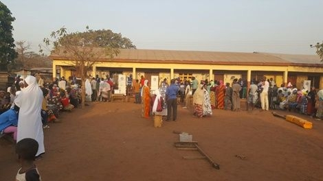 PHOTOS: Voting underway as stones, gallons, chairs help electorates to vote early
