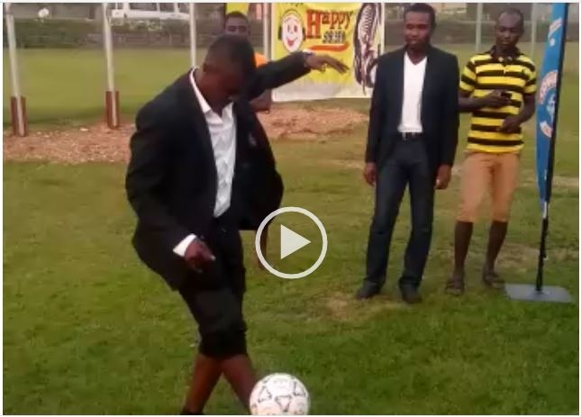 VIDEO: Awudu Issaka shows sublime football skills at Happy FM-Cowbell AFCON screening
