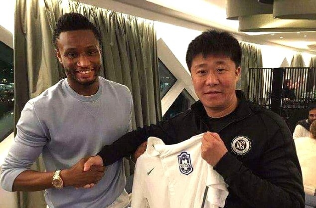 Mikel Obi Joins Chinese Club Tianjin TEDA  In Bumper Deal
