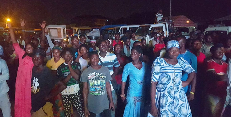 Hundreds throng Madina As Happy FM & Cowbell thrill football fans with AFCON screening