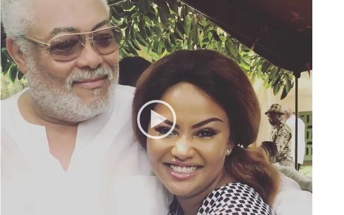 VIDEO:  RAWLINGS KISSES NANA AMA MACBROWN