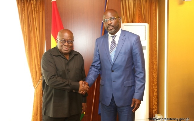 George Oppong Weah calls on President Akufo-Addo