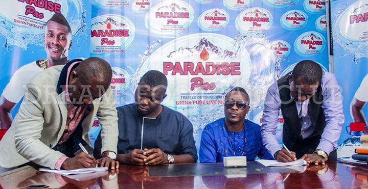 Dreams FC sign partnership deal with Paradise Pac Mineral Water