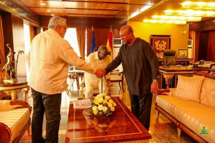 PHOTOS: Prez Akufo-Addo Confers With Ex-Presidents