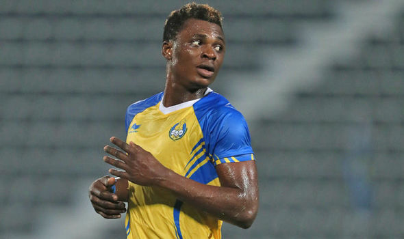 Ghanaian defender Rashid Sumaila trains as Al Gharafa gear up for the Amir Cup against Al Mesaimeer SC on Thursday