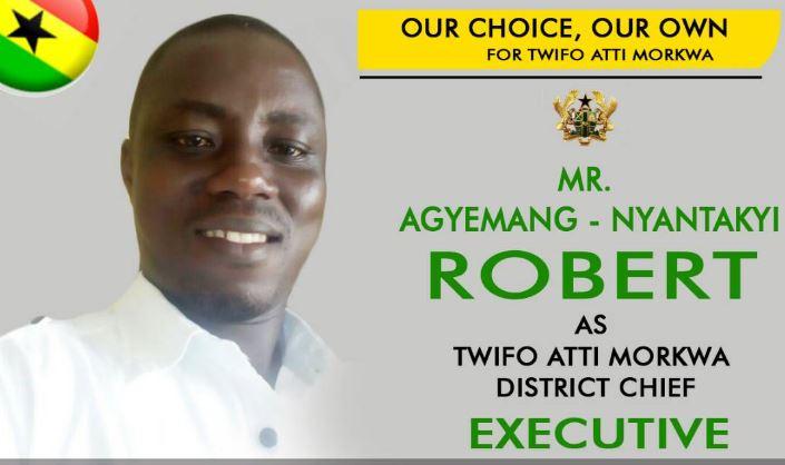 Twifo Ati Mokwaa youth endorse Robert Agyemang Nyantakyi as DCE nominee