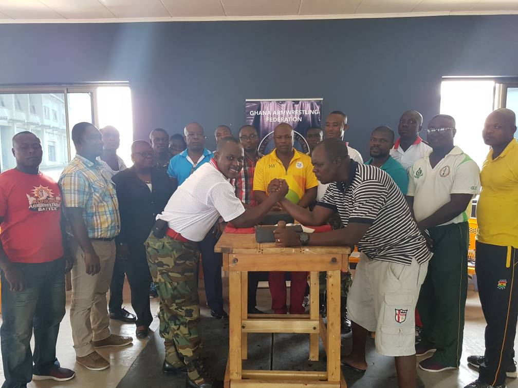 GHANA ARMWRESTLING TRAINS COACHES AND REFEREES