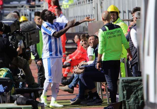 Sulley Muntari banned for walking off the pitch over racist chants