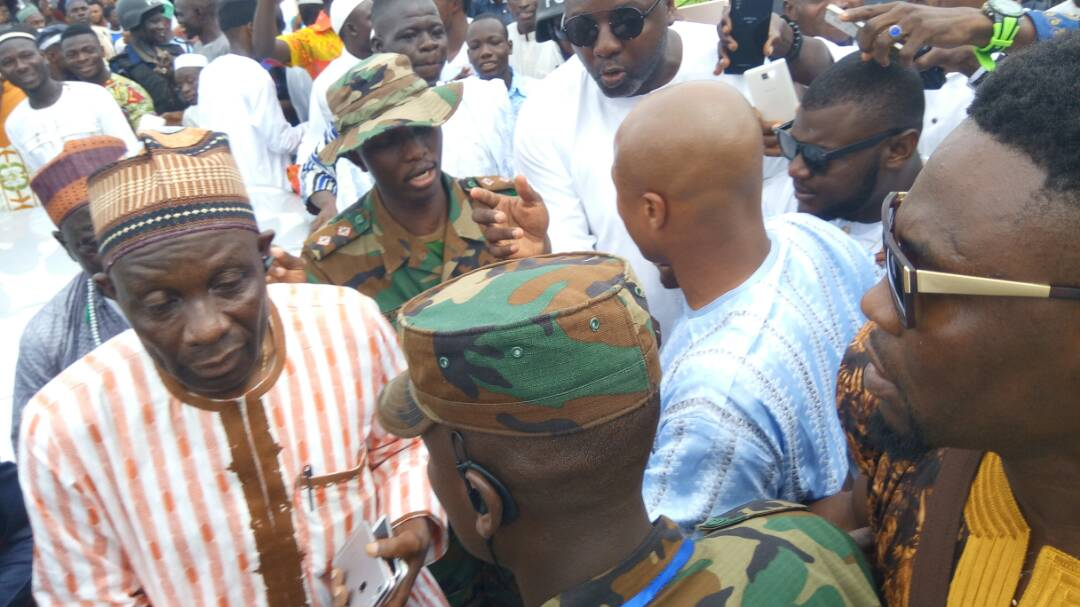 PHOTOS: Andre Ayew mobbed at Eid prayers