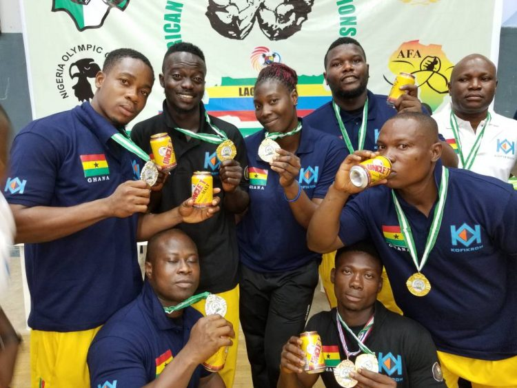 Armwrestling team rake 10 medals in day one of African Championship