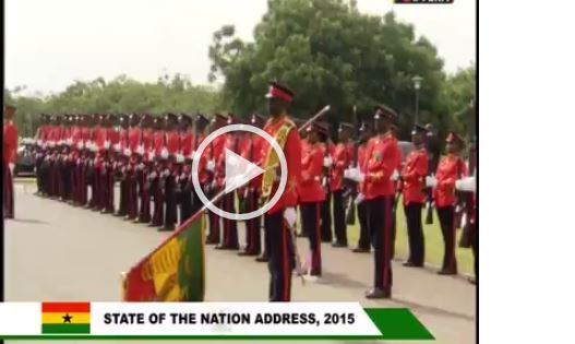 VIDEO: Watch Captain Mahama Commanding the 2015 State of the Nation Parade