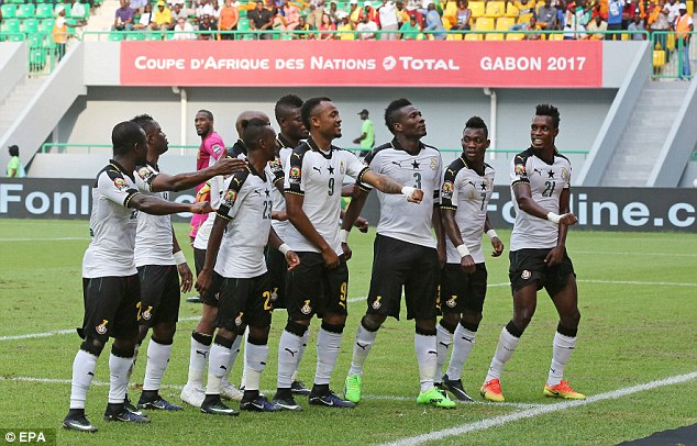 Black Stars itinerary for Kumasi out