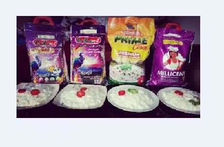 """""""Lele rice, Prime choice and Millicent rice not plastic rice""""- Royal Bow Company"""