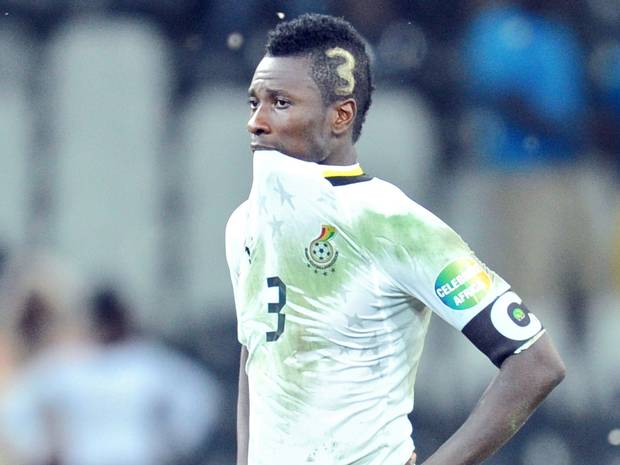 Asamoah Gyan returns from 5 years penalty break with penalty miss
