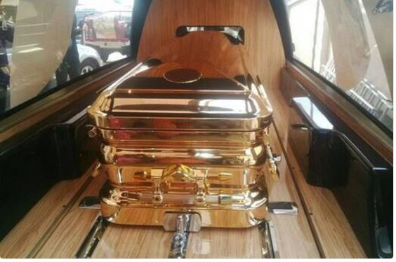 Kenyan politician and millionaire buried with golden bullet-proof coffin to protect him from his enemies